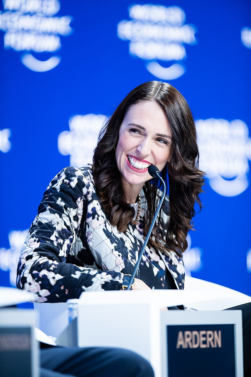 Jacinda Ardern NZ PM World Econ Forum Wikipedia